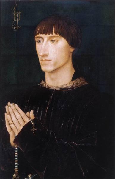 Weyden Portrait Diptych of Philippe de Croy right wing